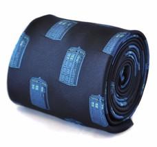 navy blue tie with blue policeman tardis box FT2109