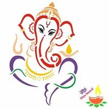 Incredible Gifts India Ganesh Wooden Rangoli Diwali Stencil (Brown, 30x3... - $20.50