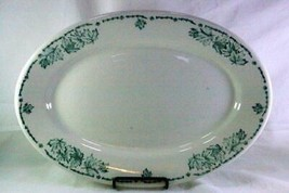 "McNichols China 13"" oval Platter Restaurant Ware  Green Leaves  #32 - $6.92"
