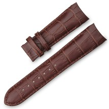 22mm Brown Curved Leather Watch Strap Fits Tissot & Other Curvedend Watc... - $35.99