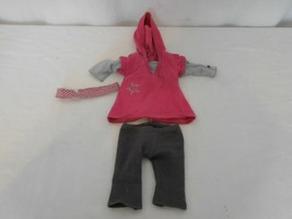 American Girl Doll Star Pink Hoodie 2008 Just Like You Meet Outfit RETIRED - $16.85