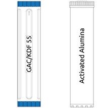 20-inch Big Blue 2 Stage Filter Kit with Activated Alumina & KDF 55 - $230.35