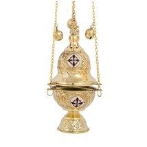 Brass Christian Church Thurible Incense Burner Censer (377 B) - $76.01