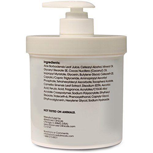 Advanced Clinicals Vitamin C 16oz Cream Advanced Brightening Cream. Anti-aging