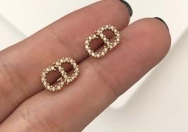 AUTH Christian Dior 2019 CLAIR D LUNE CD CRYSTAL LOGO HEART DANGLE STAR Earrings image 9