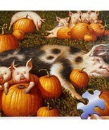 MB EZ Grasp Wysocki Porkers Playing In The Pumpkin Patch 300 Pcs Puzzle ... - £35.99 GBP