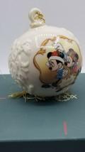 Lenox Disney 1998 Mickey & Minnie Under the Mistletoe Ball Ornament - wi... - $9.85