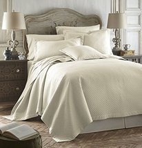 Caterina Ivory Color 3pc Queen Size Luxurious Quilted Bedspread Set Tenc... - $176.35