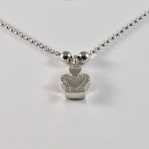 925 Sterling Silver Necklace Jack&co with Angel with Zircon Cubic White Jcn0610 image 2