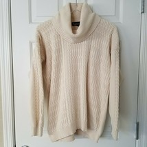 Wainscott Vintage Womens Medium 100% Cotton Made In Ireland Cable Knit S... - $24.75