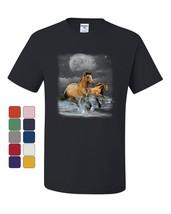 Running Wild Horses T-Shirt Wildlife Mustangs Nature Animals Tee Shirt - $8.71+