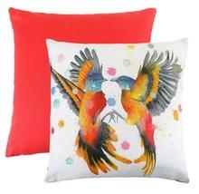 TWO BEE EATERS TROPICAL BIRD EVANS LICHFIELD MADE UK ORANGE CREAM CUSHIO... - £7.00 GBP