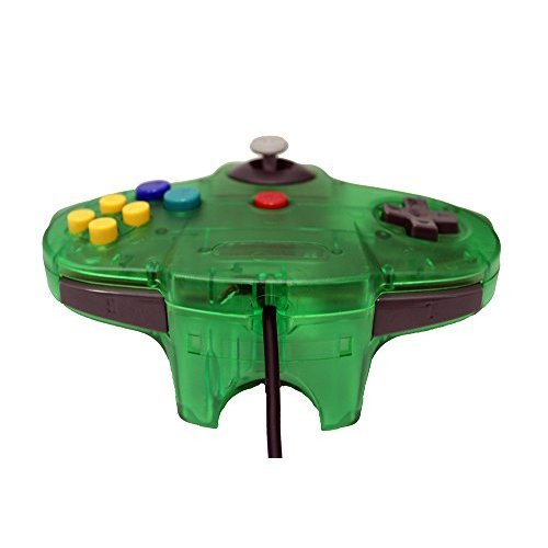 Transparent Jungle Green Replacement Controller For N64 By Mars Devices