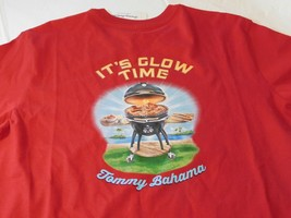 Tommy Bahama Mens Short Sleeve T Shirt s It's Glow Time TEE 15069-Scooter Red - $29.18