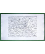 1859 ANTIQUE MAP Original - France Laon Reims & Environs - $16.20