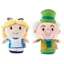 Disney Alice in Wonderland and Mad Hatter Hallmark itty bitty bittys  Te... - £20.45 GBP