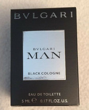 Bvlgari MAN BLACK Cologne Eau de Toilette Splash for MEN SeXy Scent NeW in BoX - $16.50