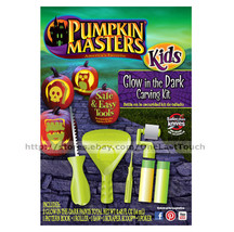 PUMPKIN MASTERS* 6pc Set GLOW IN THE DARK Saw+Scraper Scoop+Book HALLOWE... - £3.84 GBP