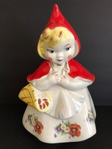 Vintage Hull LITTLE RED RIDING HOOD with Basket Cookie Jar AS IS - $89.09