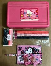 Hello Kitty Sanrio Pencil Box Case w/ pencil set and pocket note book * - $14.01