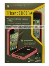 SCOSCHE Phone Case CLEAR ON PINK Band Edge FOR iPHONE 4 Polycarbonate+Ru... - £4.95 GBP