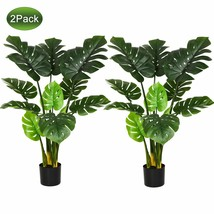 """Woooow 2Pack Artificial Monstera Deliciosa Plant 43"""" Fake Tropical Palm ... - $96.04"""