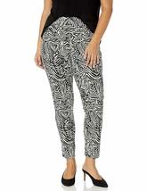 SLIM-SATION Women's Plus Size Wide Band Pull-on Print Ponte Legging - $36.35+