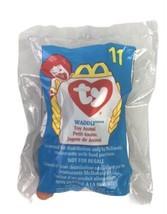 TY Teenie Beanie Baby Waddle Penguin Toy Animal 1998 Mcdonalds #11 - $10.93