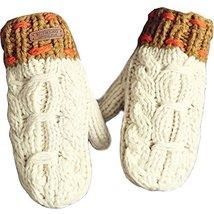Thick Handmade Gloves Women Winter Gloves Warm Knitted Gloves Mittens,Off-White