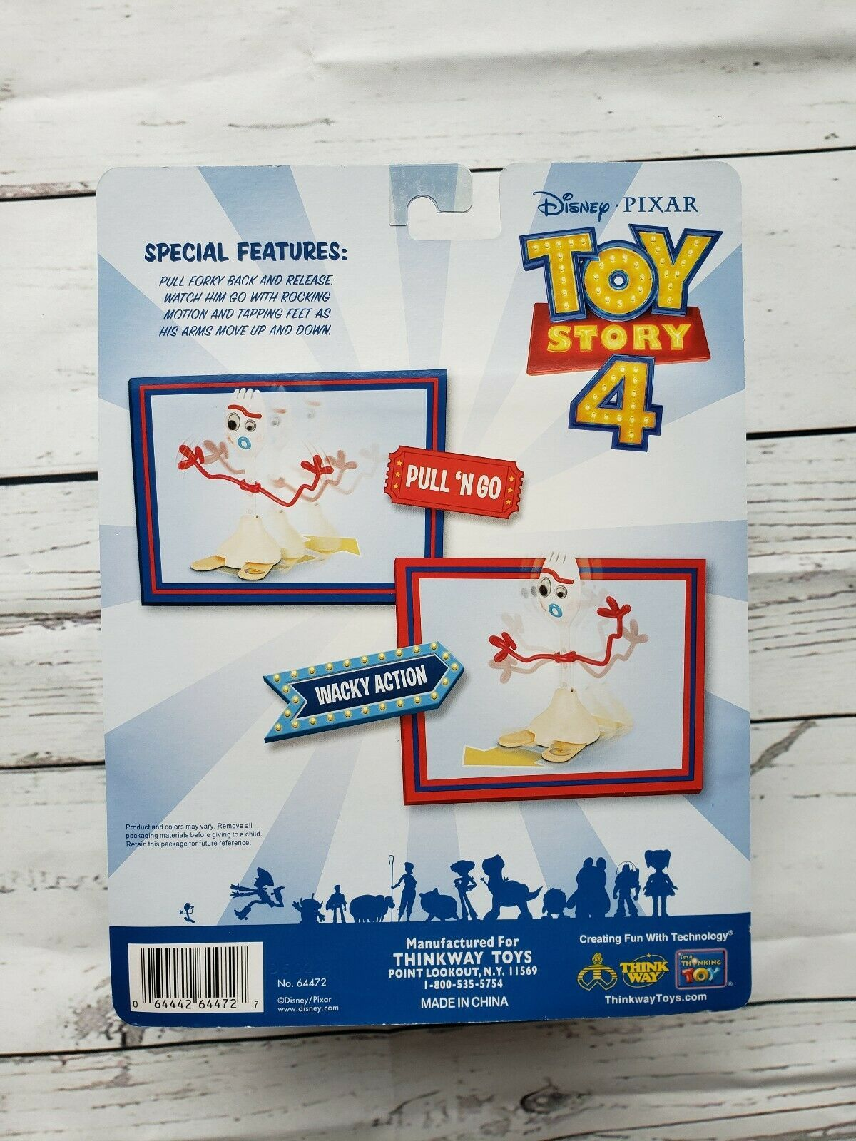 Disney Pixar Toy Story 4 Pull 'N Go Forky with Wacky Action Figure BRAND NEW