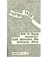 Vintage QSL Postcard  KPM 1426  Hilliard, Ohio  Bill & Doug Aumiller  -T- - $22.05