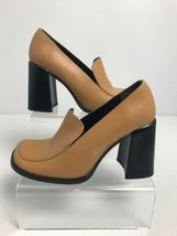 NINE WEST Women's Tan Block Heel Shoes Size 8 - $16.14