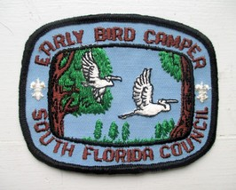 BOY SCOUTS OF AMERICA BSA EARLY BIRD CAMPER SOUTH FLORIDA COUNCIL 4 X3 I... - $3.00
