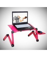 Laptop Stand Holder Computer Desk Table Adjustable Lap Bed Tray Portable... - £47.48 GBP