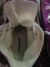 CONVERSE All Star Purple High Top Shoes Women's Size 8 Pre-Owned image 6