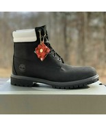 """TIMBERLAND MEN'S PREMIUM 6"""" LIMITED EDITION BOOTS DOUBLE COLLAR BLACK A2B2N - $119.39"""