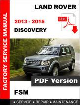 2013 2014 2015 Land Rover Discovery 4 LR4 Oem Service Repair Workshop Fsm Manual - $14.95