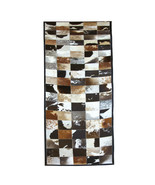 Home Decor Cowhiide Hair On Leather Patchwork Rectangle Area Rugs Carpet... - $215.99