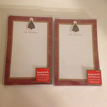 Amscan Imprintable Christmas Invitations Red Gold 2 pkgs 12 count Total 24 - $11.57