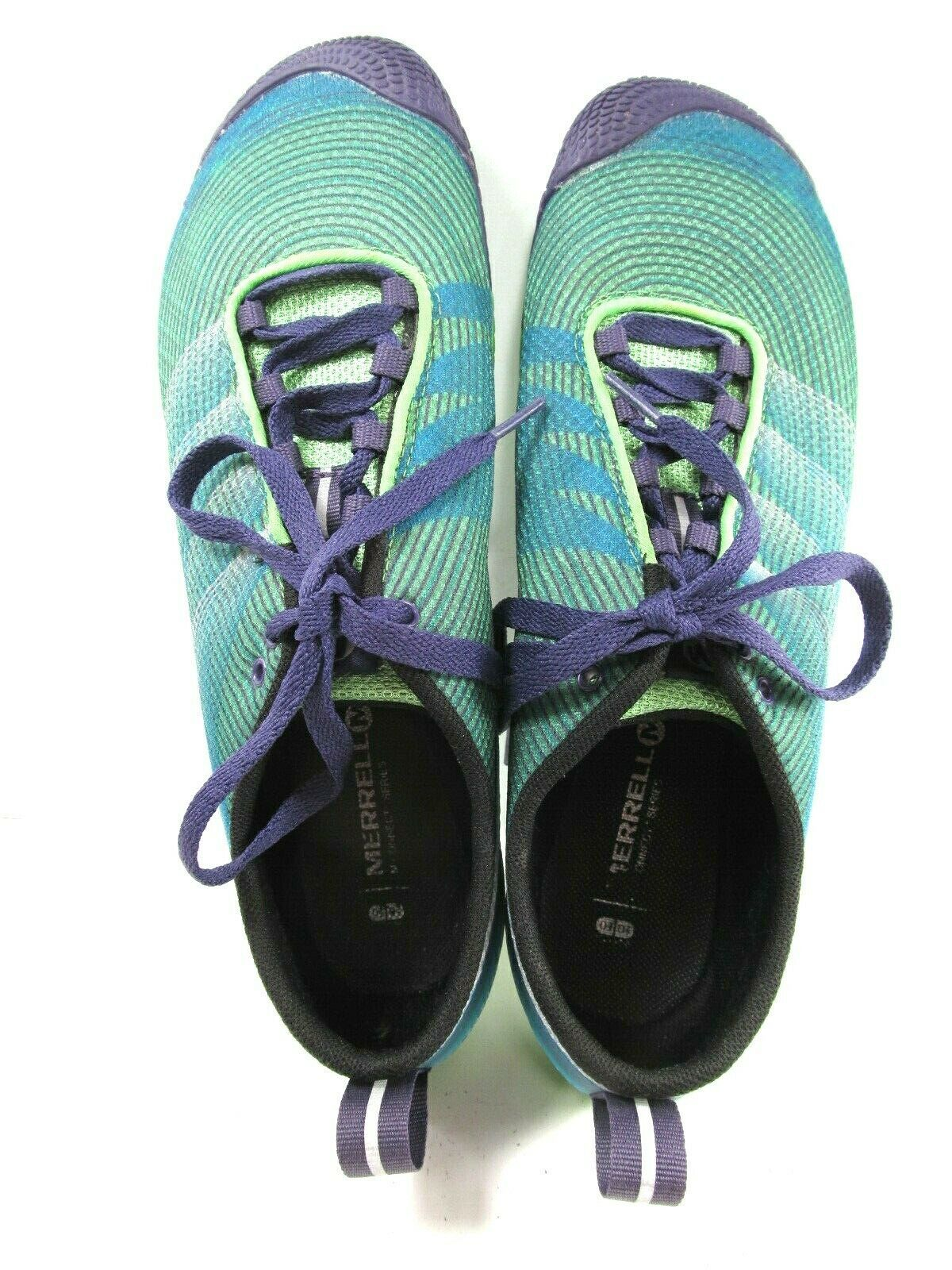 Merrell M Connect Womens Vapor Glove 2 Shoes Bright Green And Purple Size US 10 image 8