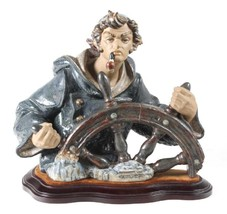 Lladro 01011325 Seaman/Helmsman Gres Retired Perfect Condition Base Incl... - $742.50