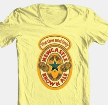 Newcastle Beer T-shirt Free Shipping 100% cotton graphic printed yellow tee image 1