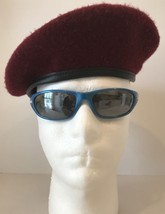 US Army Maroon Paratrooper Beret Size 7-1/8 Wool Airborne Soldier - $14.03