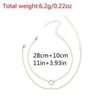 Fashion Simple Pear Multi-layered Choker Necklace image 3