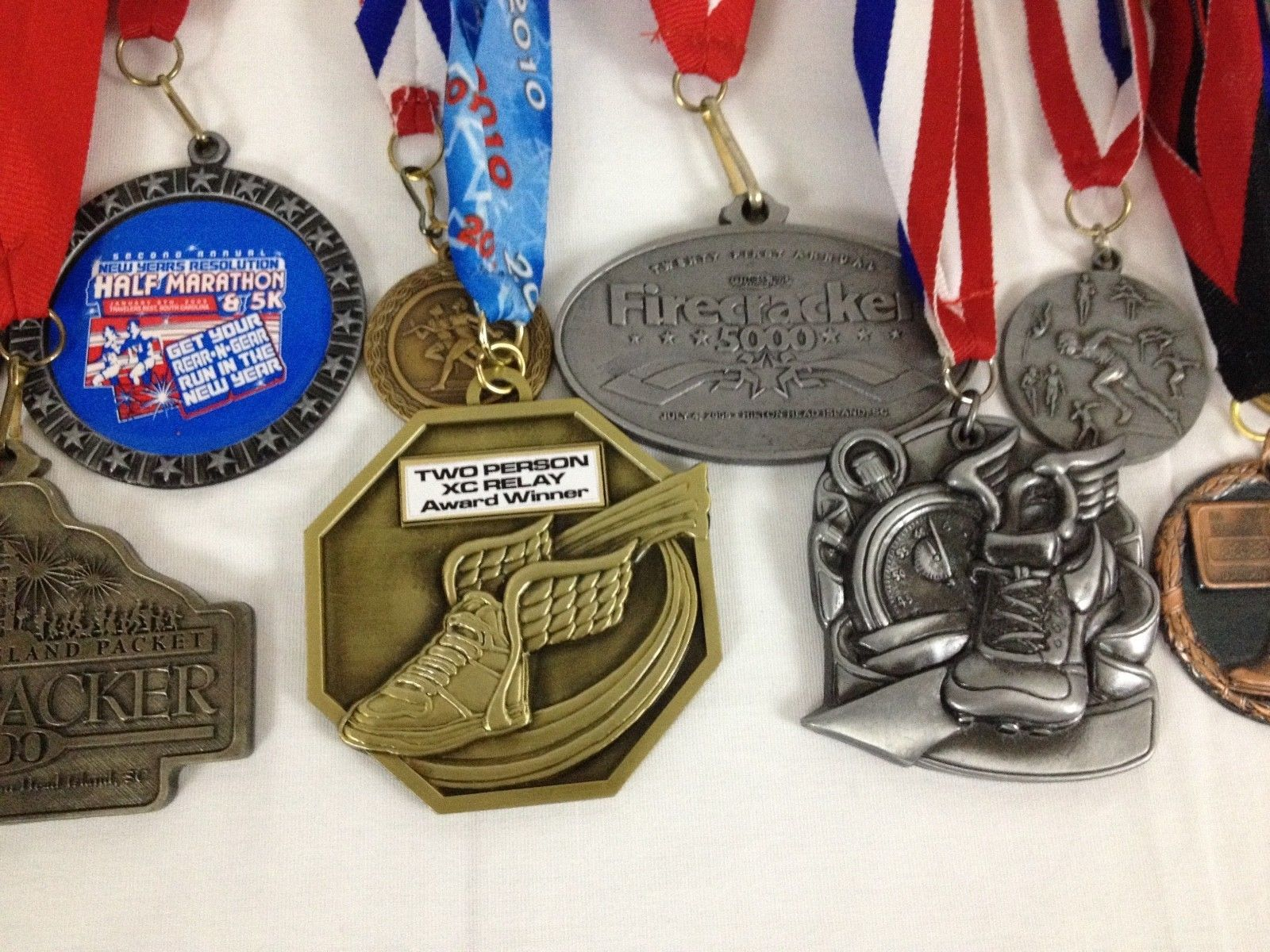 Lot of 14 Running Race Medals Medallions Awards From Various Events image 3