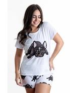 Dog French bulldog pajama set with shorts for women Frenchie - $30.00