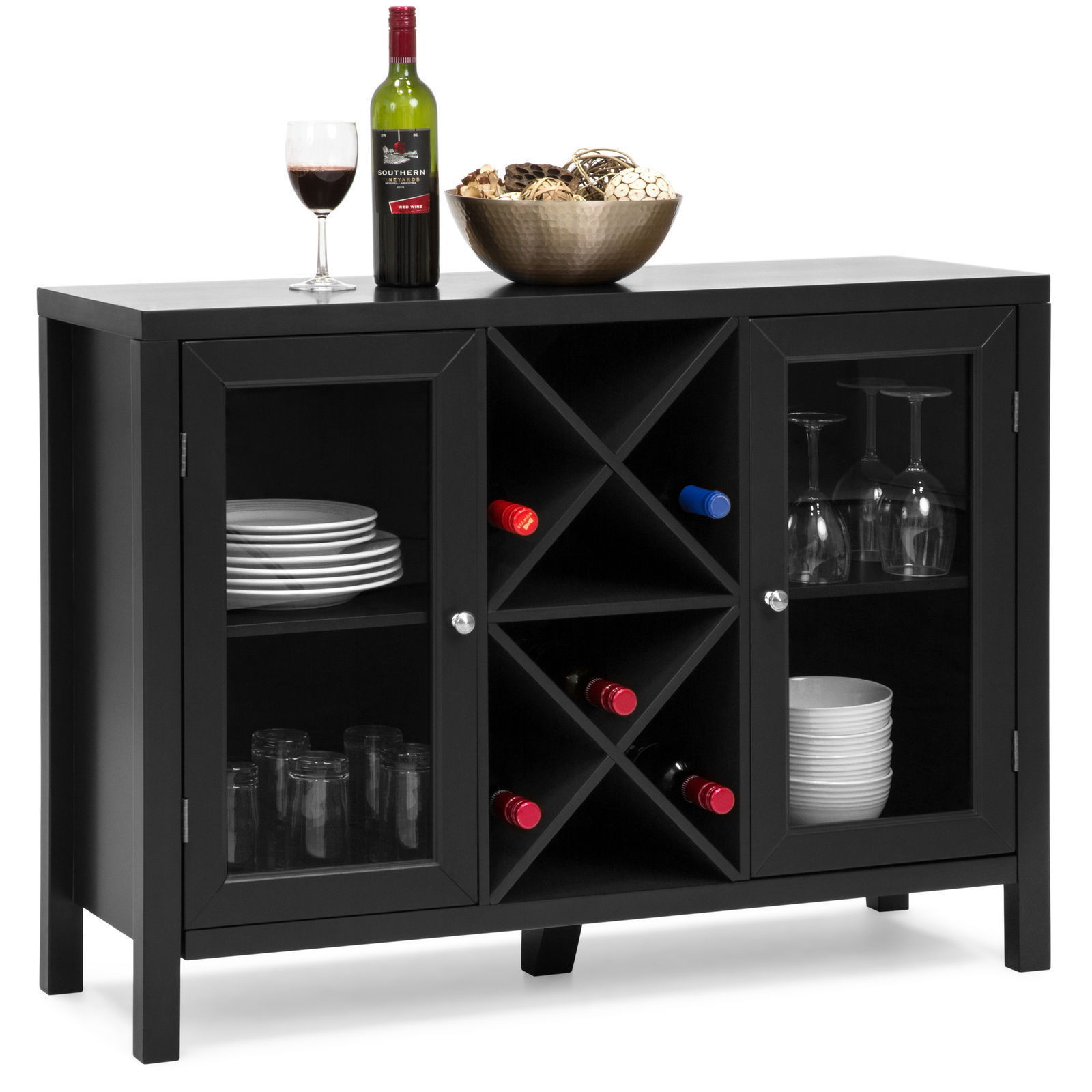 Console Buffet Wooden Wine Rack Table And 13 Similar Items 57