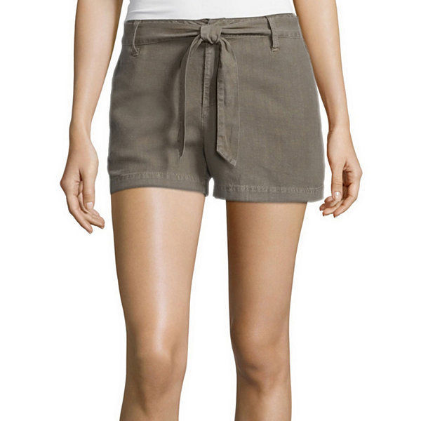 Primary image for a.n.a Tape Belted Twill Shorts Size 4, 8, 10, 12, 14 Msrp $36.00 Green Stone