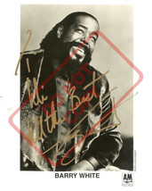 8.5x11 Autographed Signed Reprint RP Photo Barry White - $12.90