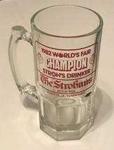 STROH'S BEER GLASS/MUG CHAMPION STROH'S DRINKER 1982 WORLD'S FAIR KNOXVI... - $18.69